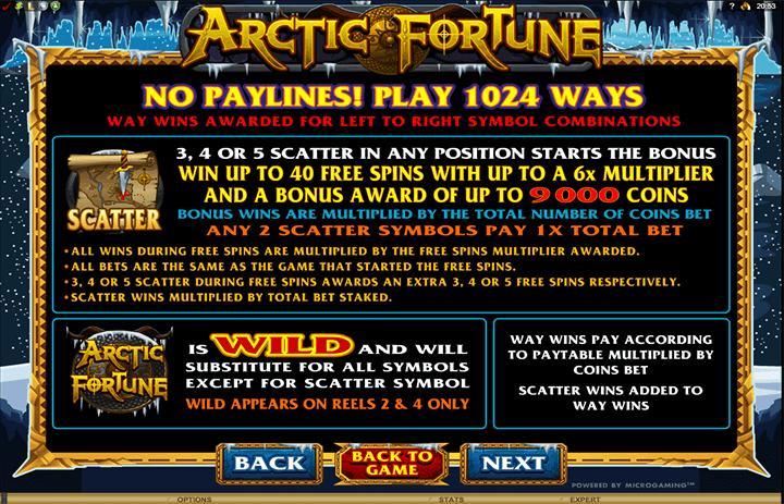 Arctic Fortune Features