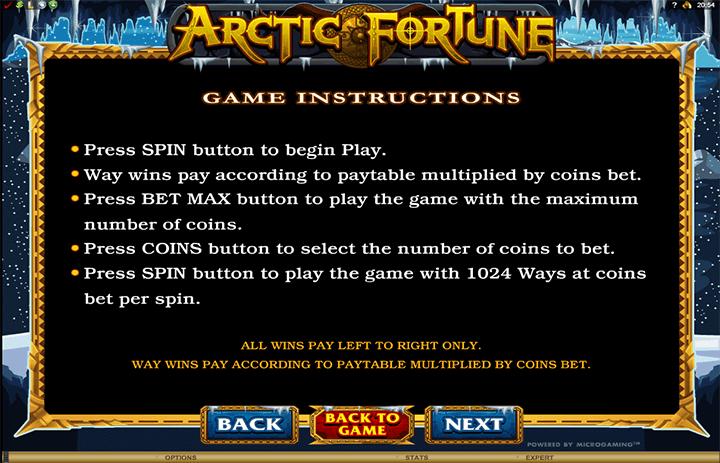 Arctic Fortune Rules