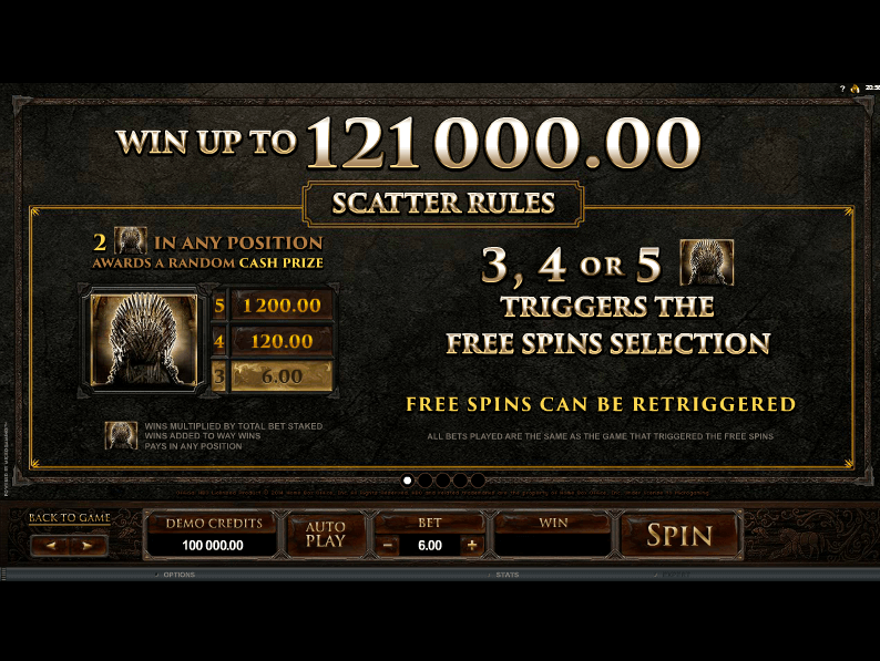 Game of Thrones Free Spin