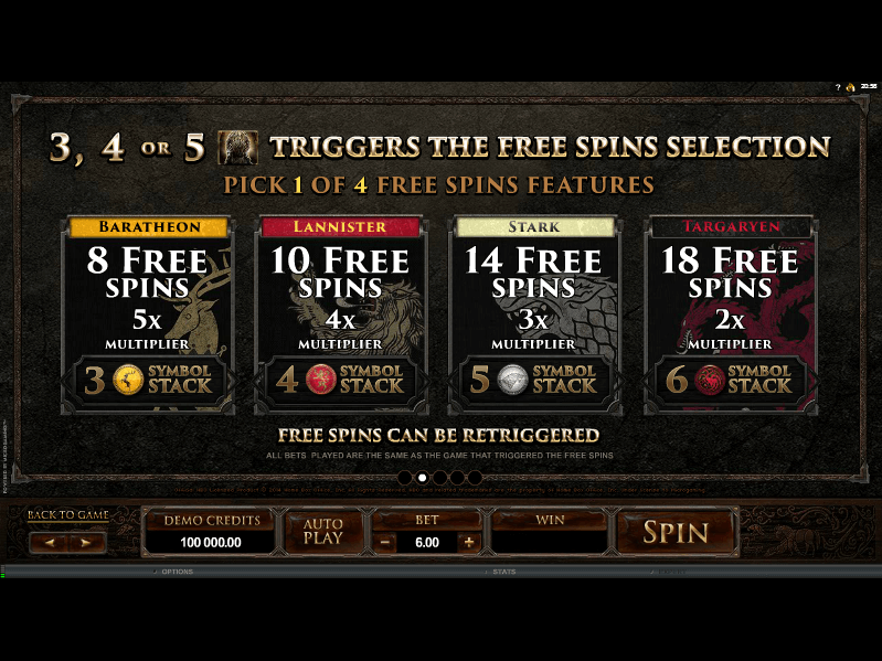 Game of Thrones Free Spins 2