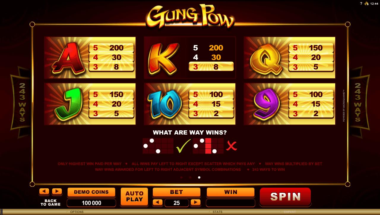 Gung Pow Symbols