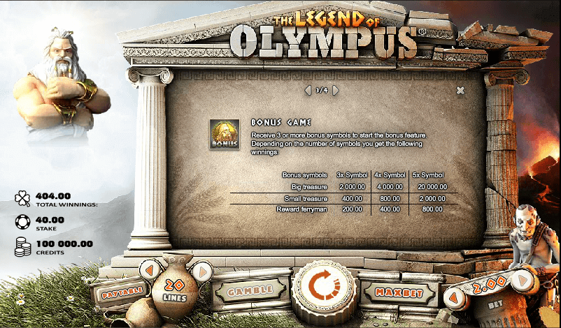 Legend of Olympus Features