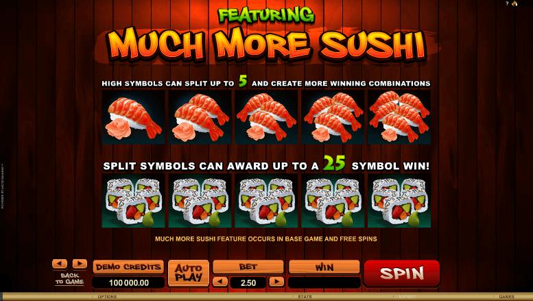 So Much Sushi Bonus