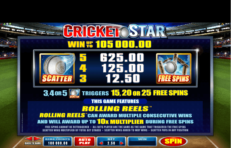 Cricket Star Bonus