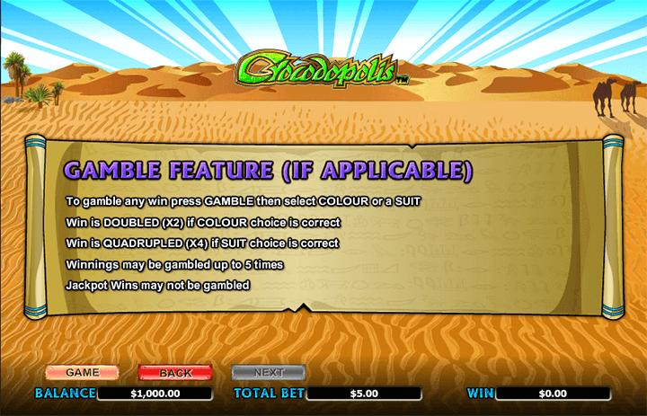 Crocodopolis Gamble Feature