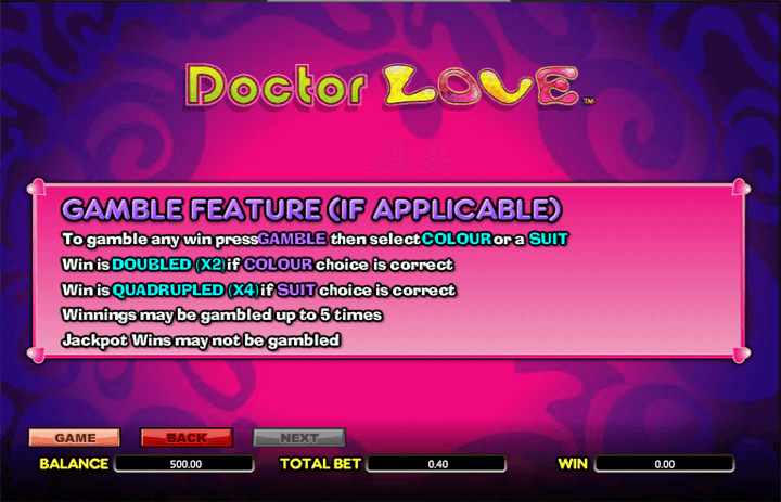 Doctor Love Gamble Feature
