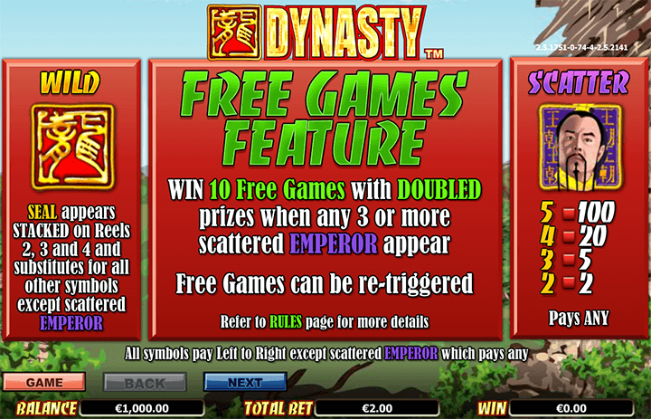 Dynasty Features