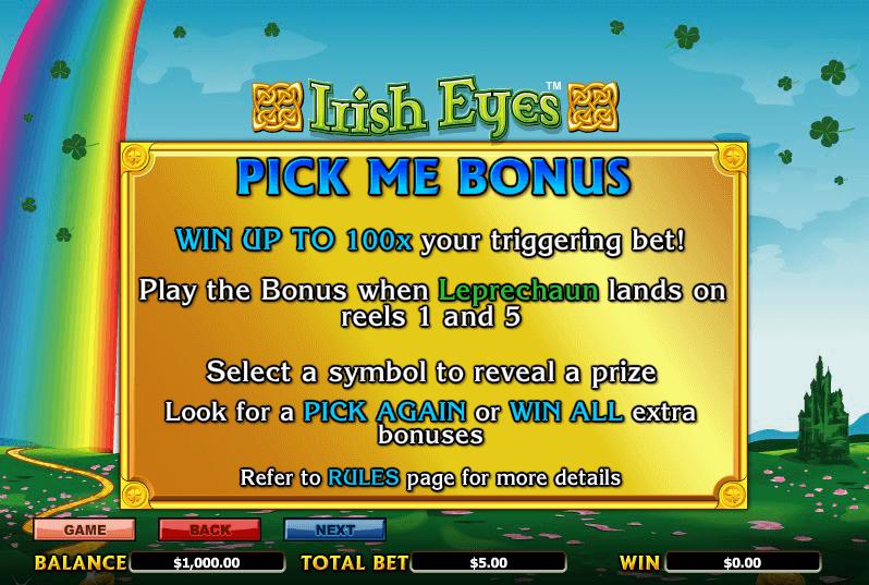 Irish Eyes Bonus