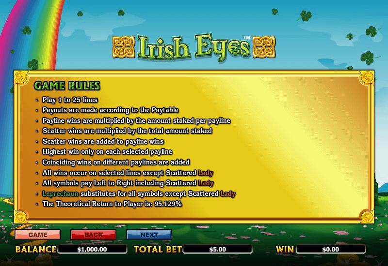 Irish Eyes Rules