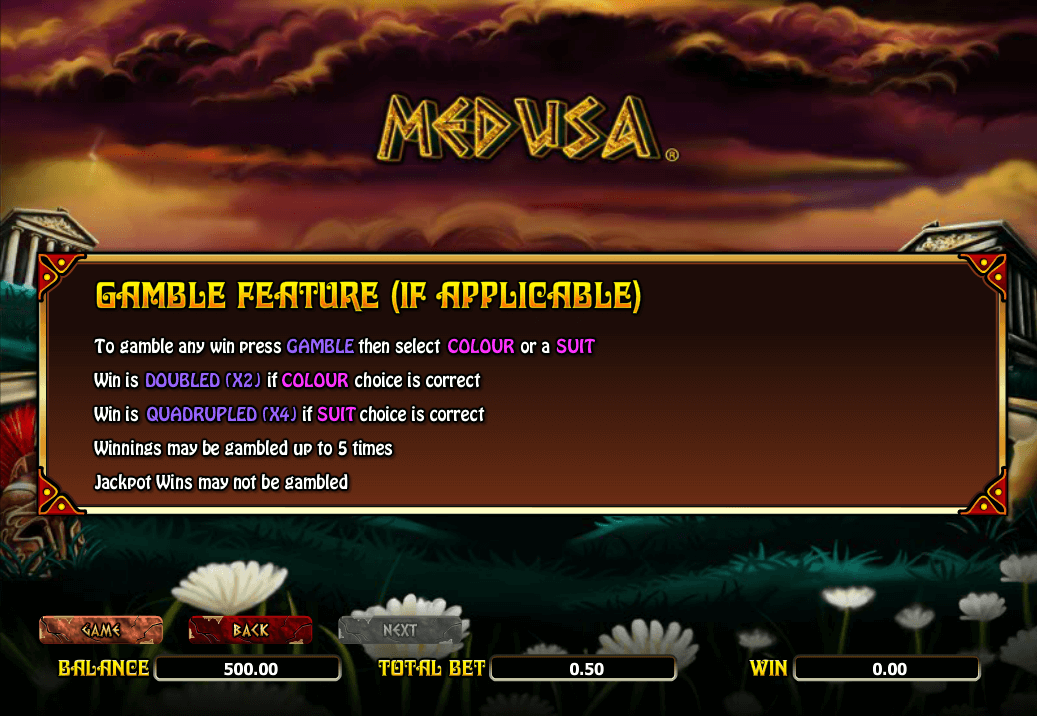 Medusa Gamble Features