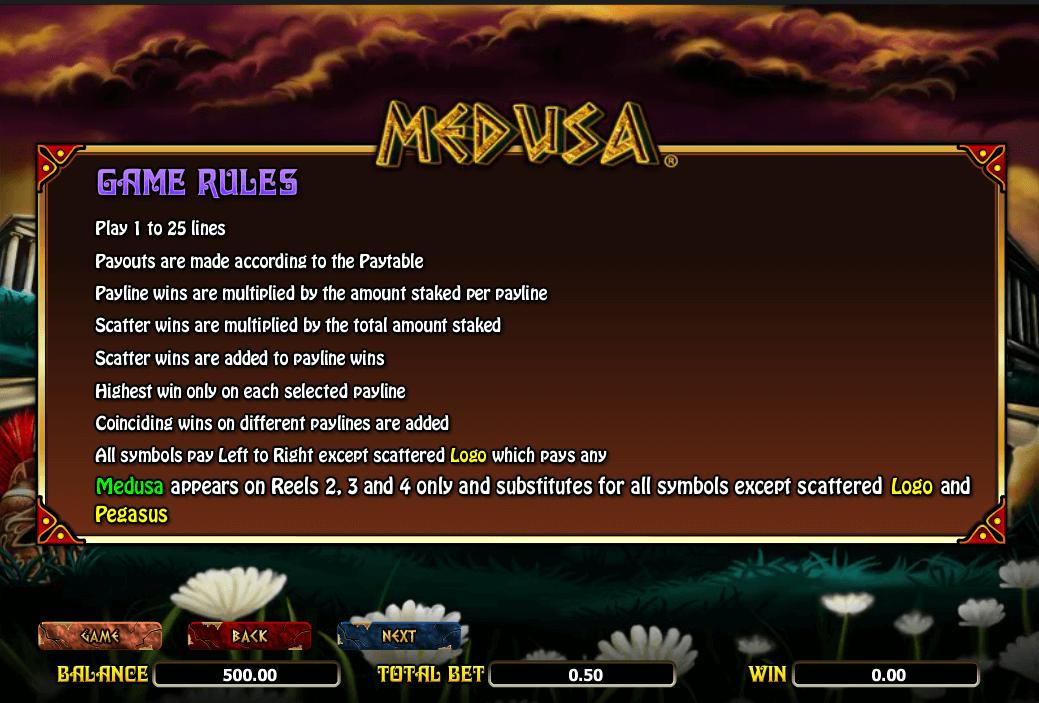 Medusa Game Rules