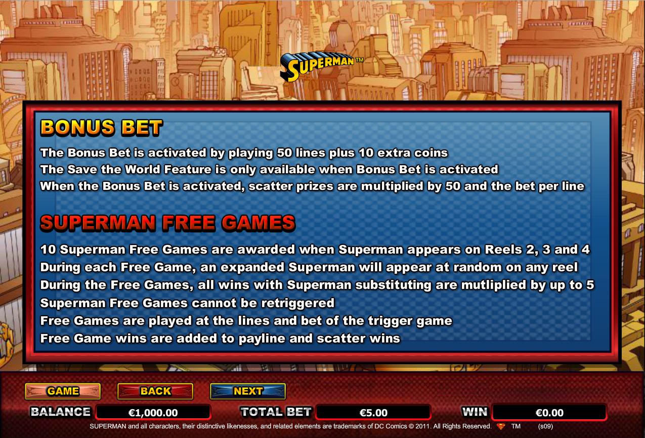 Superman Bonus