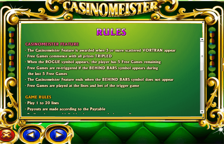 Casinomeister Rules