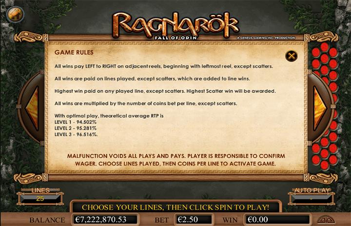 Ragnarok Game Rules