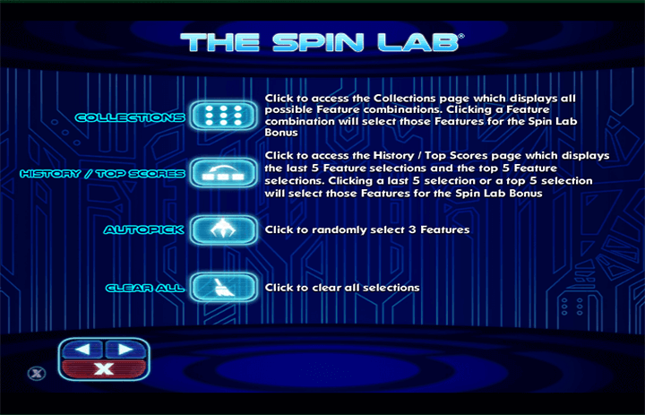 The Spin Lab Features