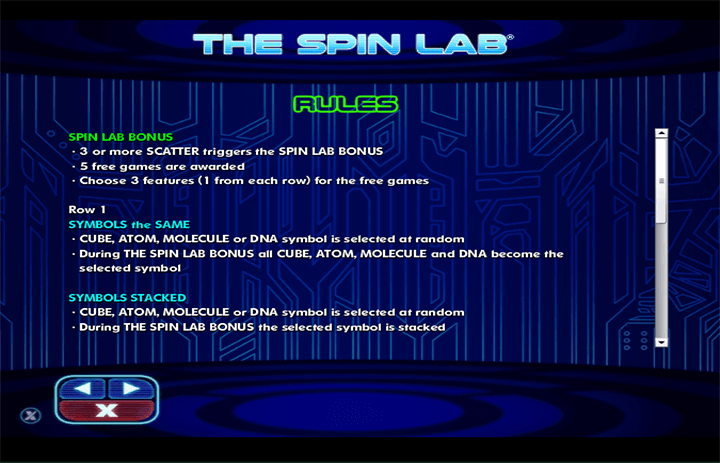 The Spin Lab Rules
