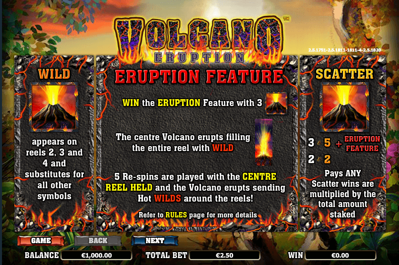 Volcano Eruption Feature