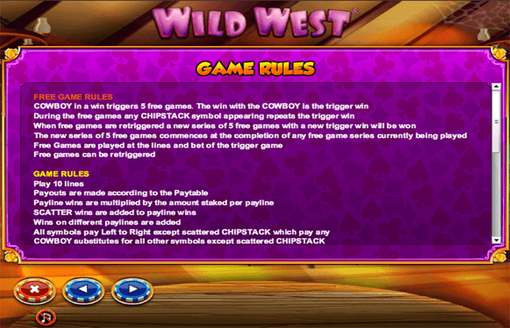 Wild West Game Rules