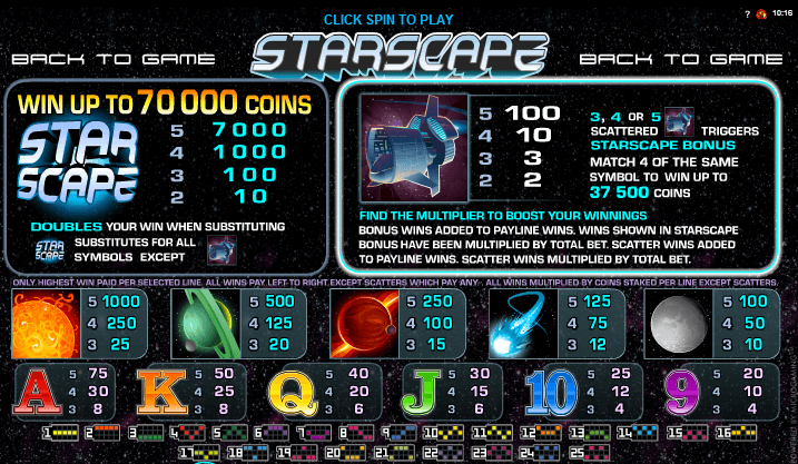 Starscape Pokie