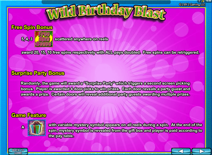 Wild Birthday Party Online Pokie