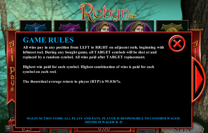 Robyn Pokie Instructions by Microgaming